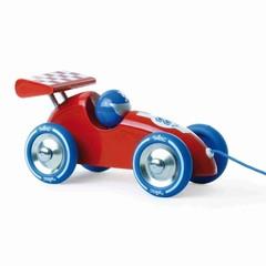 Vilac Vilac aanhangwagen auto racewagen hout rood