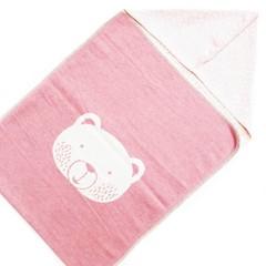 David Fussenegger David Fussenegger jewel puck blanket hood bear pink