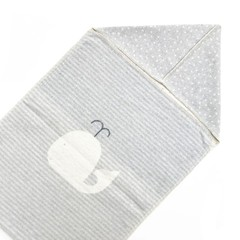 David Fussenegger David Fussenegger jewel whale puck blanket hood grey
