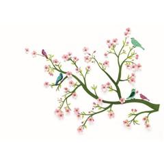 Djeco Djeco Wandsticker | Kirschbaum Blüten rosa
