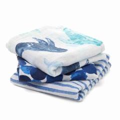 Aden + Anais Aden + Anais Musy Burp Cloth 70x70cm Seafaring blue 3er
