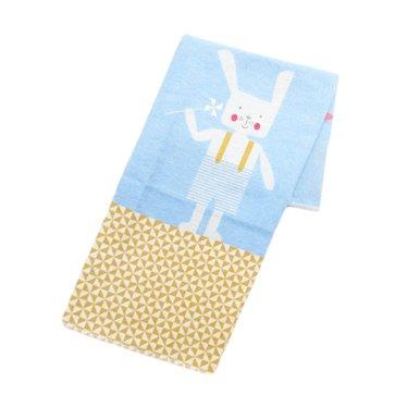 David Fussenegger David Fussenegger baby blanket rabbit blue 70x90