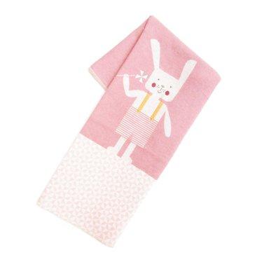 David Fussenegger David Fussenegger baby blanket rabbit pink 70x90