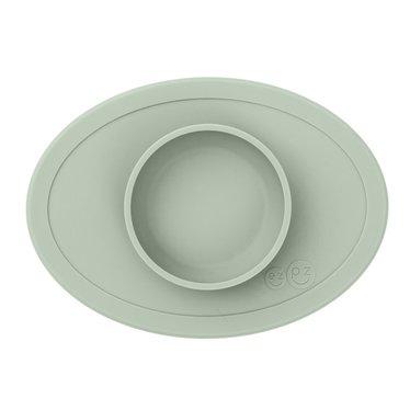 ezpz ezpz Tiny Bowl Silicone Place Mat Plate Almond Green
