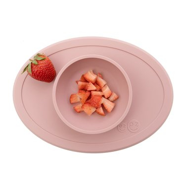 ezpz ezpz Tiny Bowl Silicone Place Mat Plate Pink