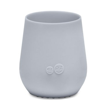 ezpz ezpz Tiny Cup siliconen drinkbeker zilvergrijs