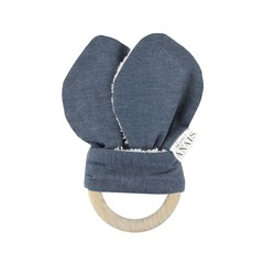 Trixie Baby Trixie Anais Rammelaar Bunny Houten Ring Eclipse Blauw