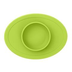ezpz ezpz Tiny Bowl Silicone Square Mat Plate Lime Green