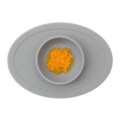 ezpz ezpz Tiny Bowl Silicone Plaats Mat Plaat Grijs