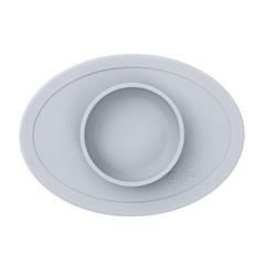 ezpz ezpz Tiny Bowl Silicone Square Mat Plate Zilvergrijs