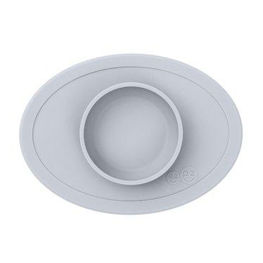 ezpz ezpz Tiny Bowl Silicone Square Mat Plate Silver Gray