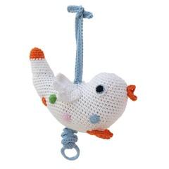 Sindibaba Sindibaba Musical Bird crocheted white Guten Abend, Gute Nac