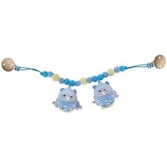 Sindibaba Sindibaba Pram Rattle Owl light blue