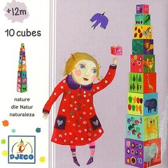 Djeco Djeco stacking tower 10 parts Nature and Animals