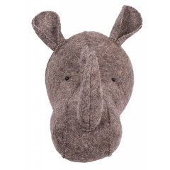 Kidsdepot grijs Kids Depot ZOO Rhino Dierenkop Trophy