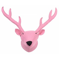 Kidsdepot Kids Depot ZOO reindeer dierenkop Trophy roze