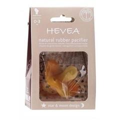 Hevea Hevea pacifiers Star & Moon 0-3, orthodontic