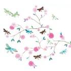"""Djeco Djeco wallsticker """"Dragonfly tree"""" pink"""