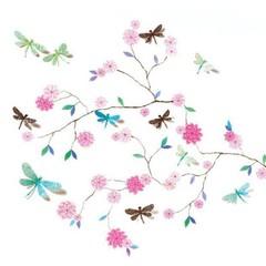 Djeco Djeco Wandsticker | Libellenbaum rosa