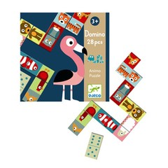 Djeco Djeco Lernspiel Domino Tiere Puzzle