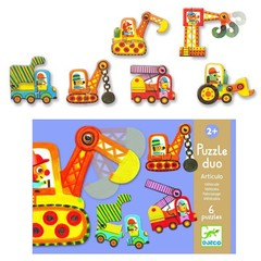 Djeco Djeco Puzzle duo voertuigen