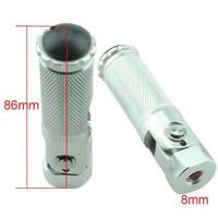 Accessori Italy Opklapbare Aluminium Voetsteun M8 1stuk
