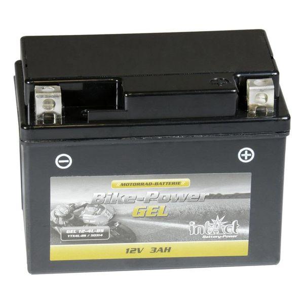 Intact Battery Motorfietsbatterij GEL YTX4L-BS 12V 3Ah 50314 Gel12-4L-BS