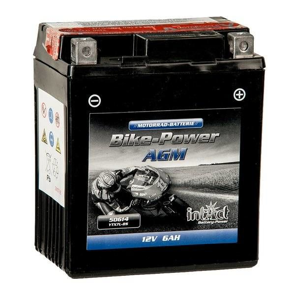 Intact Battery Motorfietsbatterij AGM YTX7L-BS 12V 6Ah 50614