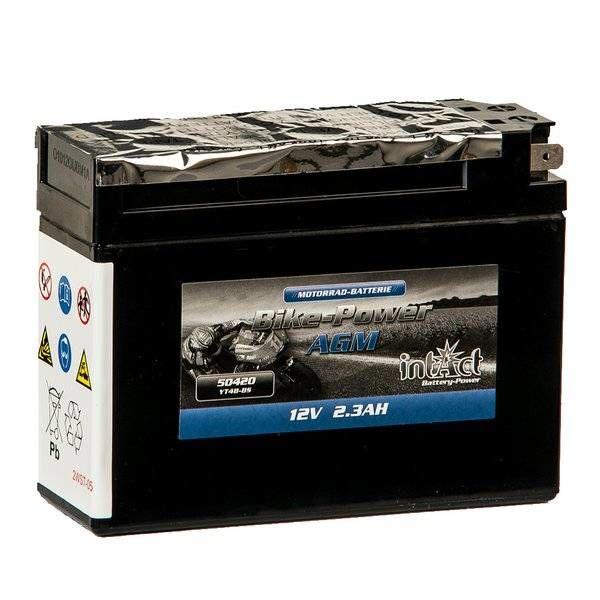 Intact Battery Motorfietsbatterij AGM YT4B-BS 12V 2,3Ah 50420