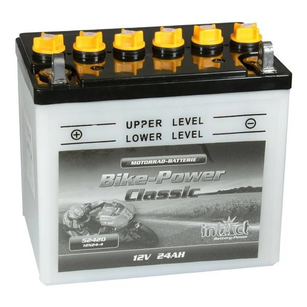 Intact Battery Motorfietsbatterij Classic 12N24-4 12V 24Ah 52420