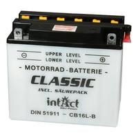 Intact Battery Motorfietsbatterij Classic YB16L-B 12V 19Ah 51911