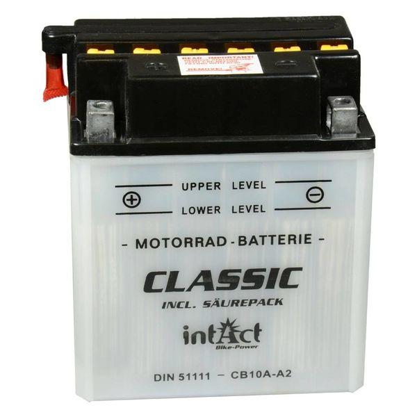 Intact Battery Motorfietsbatterij Classic YB10A-A2 12V 11Ah 51111