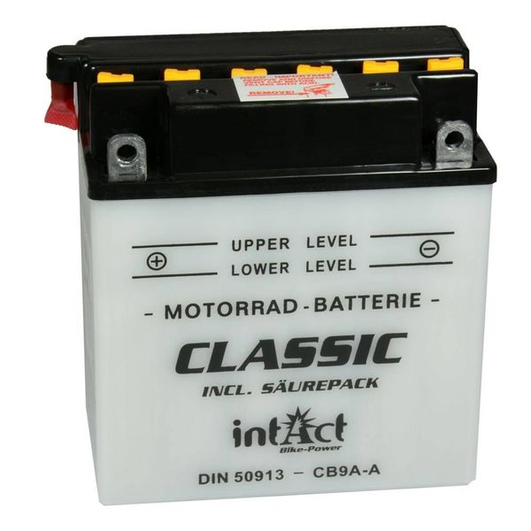 Intact Battery Motorfietsbatterij Classic YB9A-A 12V 9Ah 50913