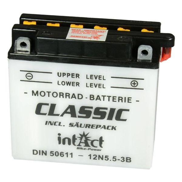 Intact Battery Motorfietsbatterij Classic 12N5.5-3B 12V 5.5Ah 50611