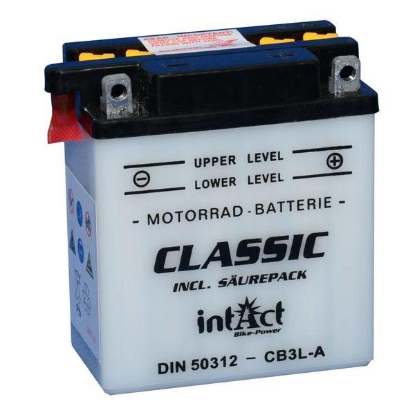 Intact Battery Motorfietsbatterij Classic YB3L-A 12V 3Ah 50312