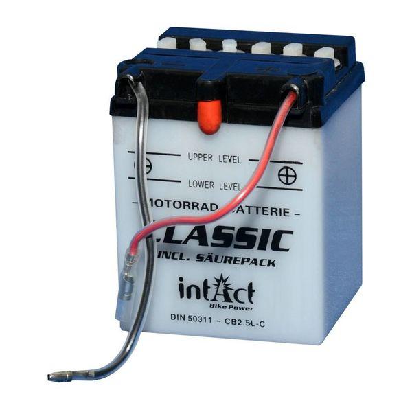 Intact Battery Motorfietsbatterij Classic YB2.5L-C 12V 2.5Ah 50311