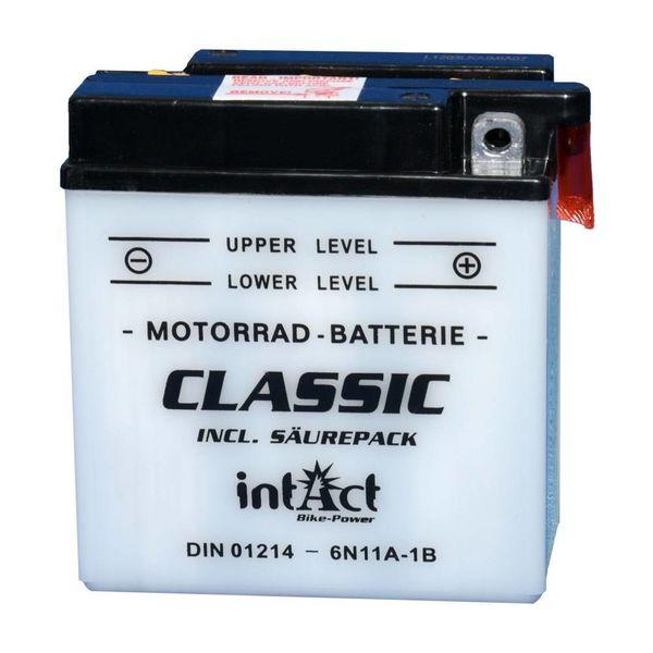 Intact Battery Motorfietsbatterij Classic 6N11A-1B 6V 11Ah 01214