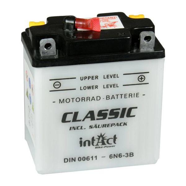 Intact Battery Motorfietsbatterij Classic 6N6-3B 6V 6Ah 00611