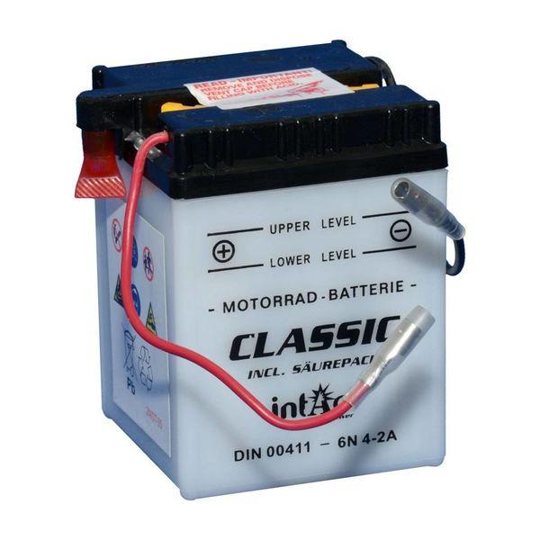 Intact Battery Motorfietsbatterij Classic 6N4-2A 6V 4Ah 00411