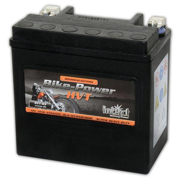Intact Battery Motorfietsbatterij HVT YTX14L-BS 12V 12Ah HVT-03