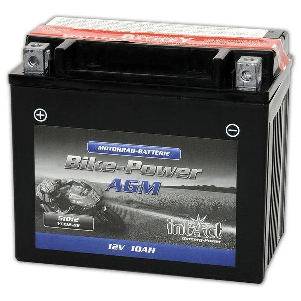 Intact Battery Motorfietsbatterij AGM YTX12A-BS 12V 10Ah 51013