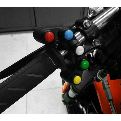 Accessori Italy Aluminium 5 Weg Handlebar Switch Stuurschakelaar Zwart
