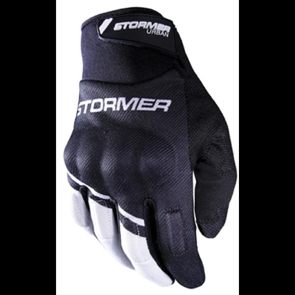 Stormer  Urban Gloves Zwart Wit Vrijetijdshandschoen homologatie EN13594