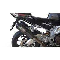 GPR GPE Poppy CAT 50° ANNIVERSARY Nero Titanium Dual Uitlaatsysteem Aprilia Tuono R 2006-10  Catalysator
