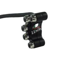 Accessori Italy Racing 5 Knops Handlebar Switch Stuurschakelaar Zwart CNC Aluminium