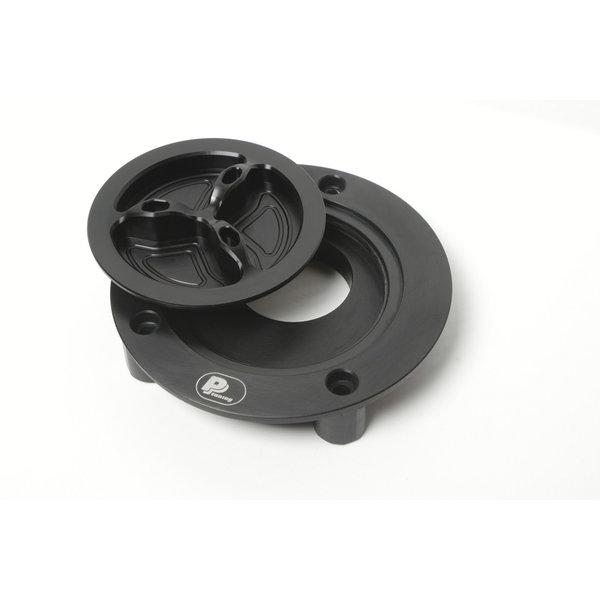 PP Tuning Tankdop Schroefsluiting Zwart Geanodiseerd / Aluminium Kleur Kawasaki Modellen