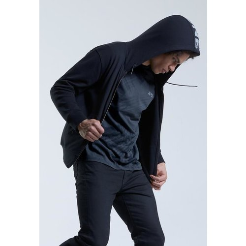 Point Zero Zero One .001 Mens Zip Logo Hoodie