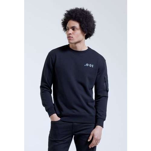 Point Zero Zero One .001 Mens Zip Crew Sweat