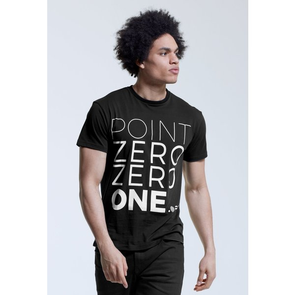 Point Zero Zero One .001 Mens Logo Tee - Englisch 100% pima katoen