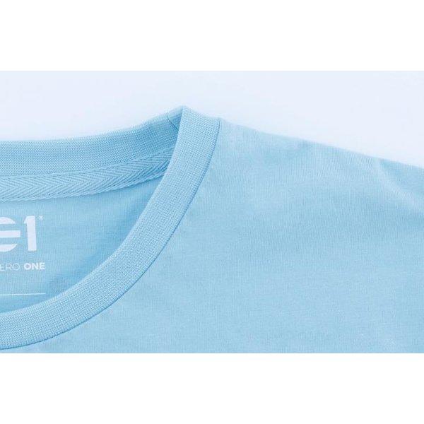 Point Zero Zero One .001 Mens Logo Tee - English - Blue 100% pima katoen